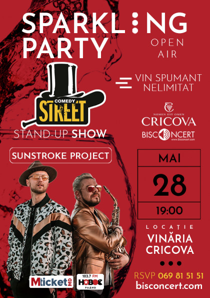 Sparkling Party вместе с Stand-up Show от Comedy Street и Sunstroke Project