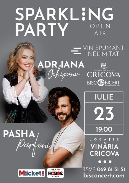 """Adriana Ochișanu și Pasha Parfeni la """"Sparkling Party"""""""