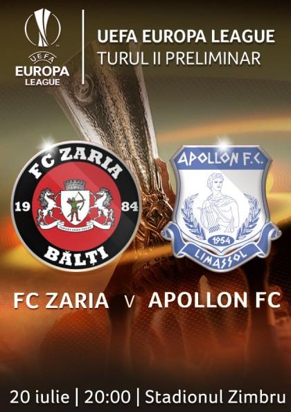 EUROPA LEAGUE - FC Zaria - Apollon FC
