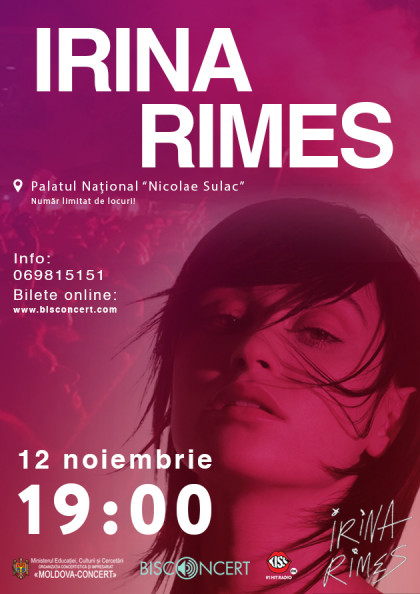 Irina Rimes revine la Chișinau cu un concert SOLO!