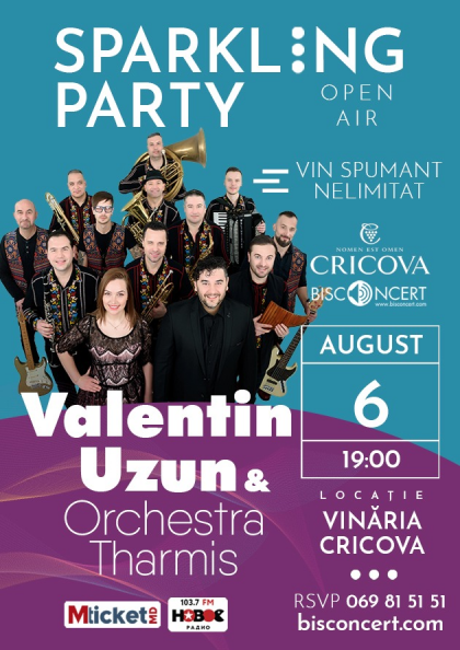 """Sparkling Party"" cu Valentin Uzun & Orchestra Tharmis"